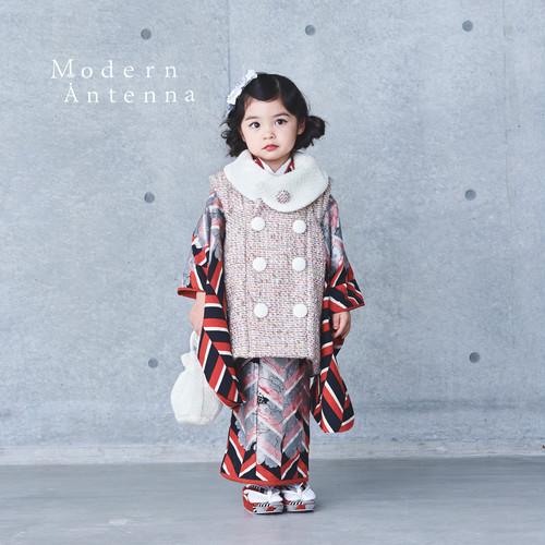 《2色》ぼたん【3歳女児/着物被布セット】(受注商品 納期約2.5~3ヵ月)