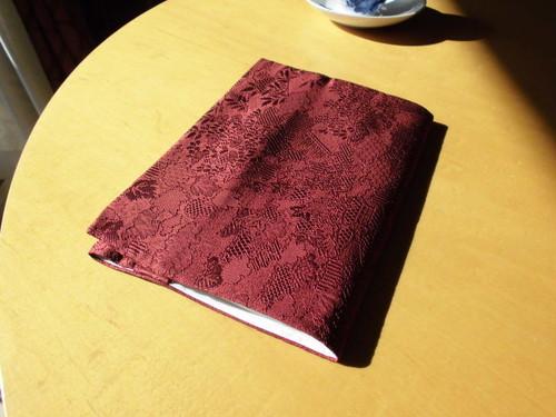 使用浅羽織から絹のA5サイズブックカバー