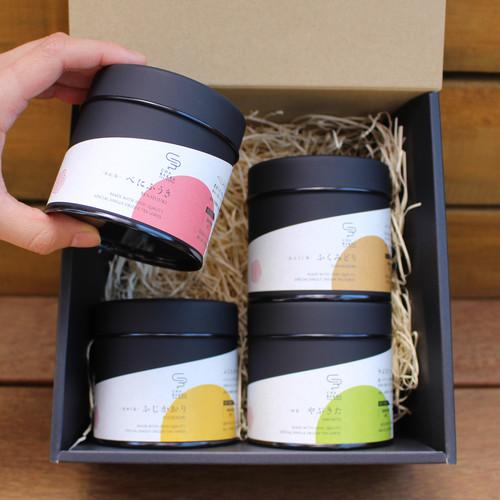 【ギフトセット】日本茶  茶葉 4種セット 茶缶30g / ティーバッグ5個 ギフト セット お中元 送料無料
