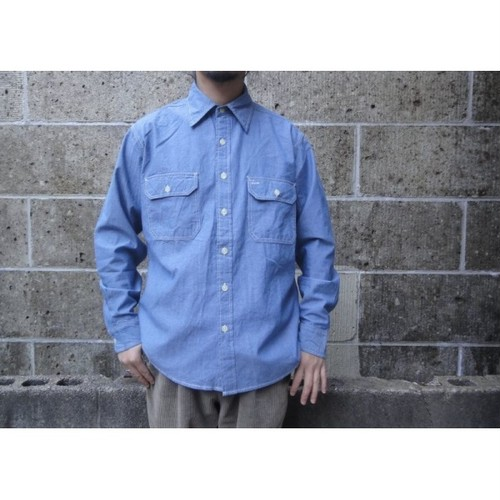 CAMCO (カムコ) CLASSIC YARN SOLID CHAMBRAY SHIRTS ブルー