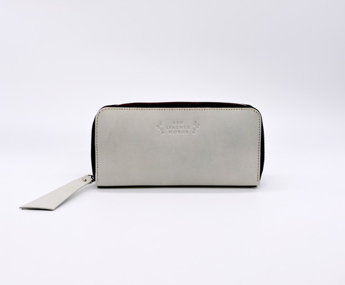 Round Zip Wallet tanned light gray