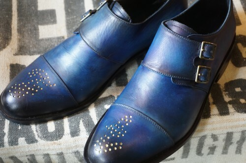 "FLORSHEIM × ESQUIVEL double monk Shoes ""blue"""