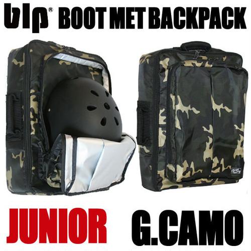 blp ジュニア用 ブーツ&メット バックパック Wカモ スノーボード・スキーなどのリュックに!