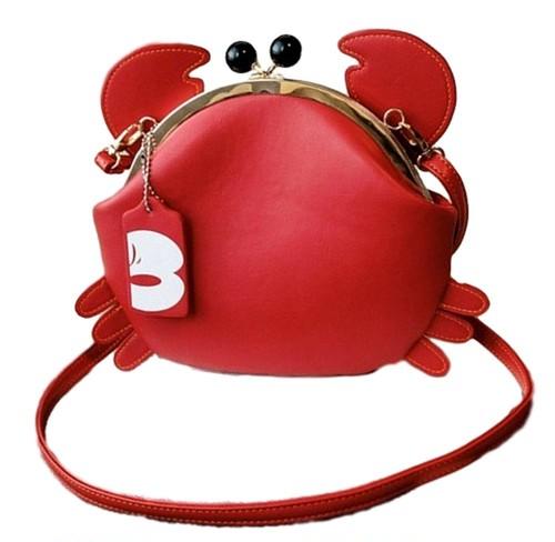 【即納】蟹(かに)の形のショルダーバック