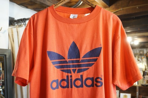 "80's adidas trefoil print Tee ""Made in U.S.A."""