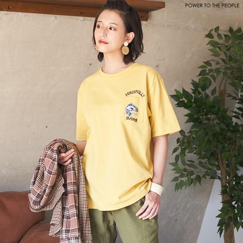 FISHING柄ポケット刺繍Tシャツ NO0512138