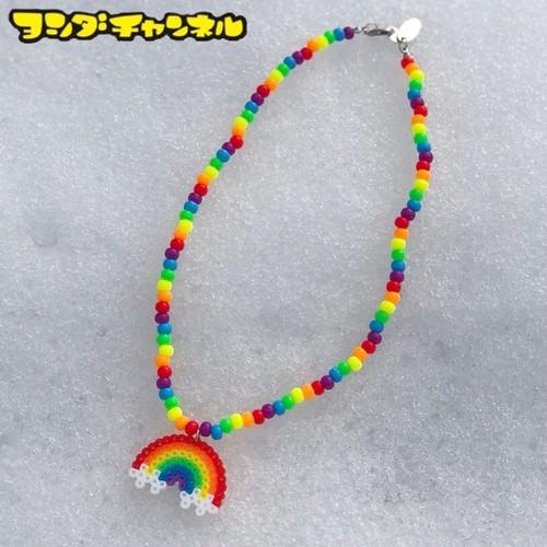 ミニミニ虹ネックレス