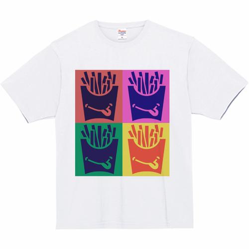 Tシャツ(ポップアート - 白)