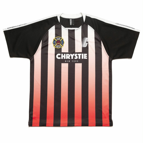 CHRYSTIE NYC(クリスティー ニューヨーク) / STRIPE SOCCER JERSEY -RED/BLACK-