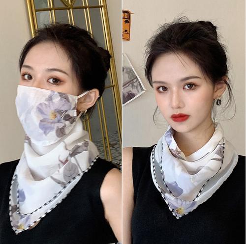 【ベール】マスク日よけを防ぐ顔をかばう首をかばう花