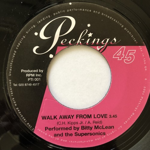 Bitty McLean & The Supersonics - Walk Away From Love【7-20600】