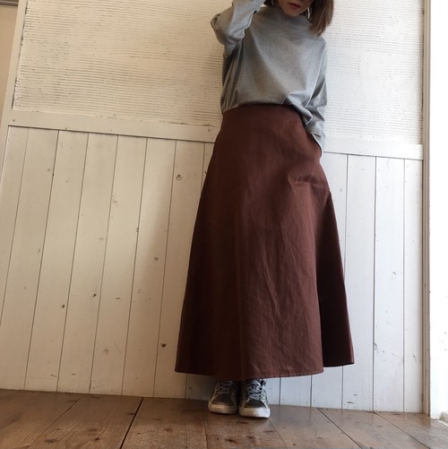 MICA&DEAL  twill flare skirt
