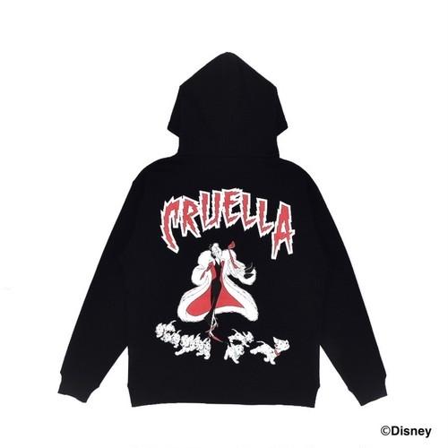 EXAMPLE / CRUELLA DE VIL Design HOODIE  / BLACK