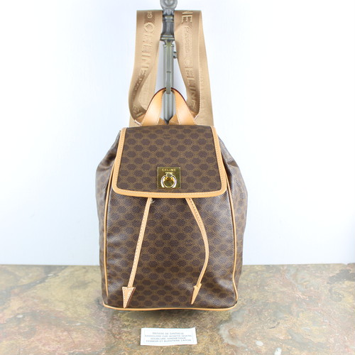 .OLD CELINE MACADAM PATTERNED RUCK SUCK MADE IN ITALY/オールドセリーヌマカダム柄リュックサック 2000000050423