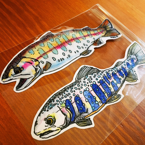 Poisson sticker (14×5cm)