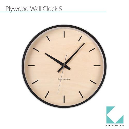 KATOMOKU plywood wall clock 5 km-50BRCS SKP電波時計
