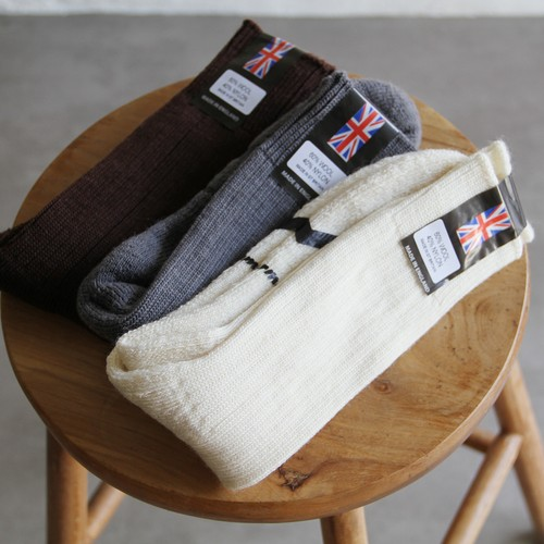 Yarmo【 mens 】cushion sole wool socks