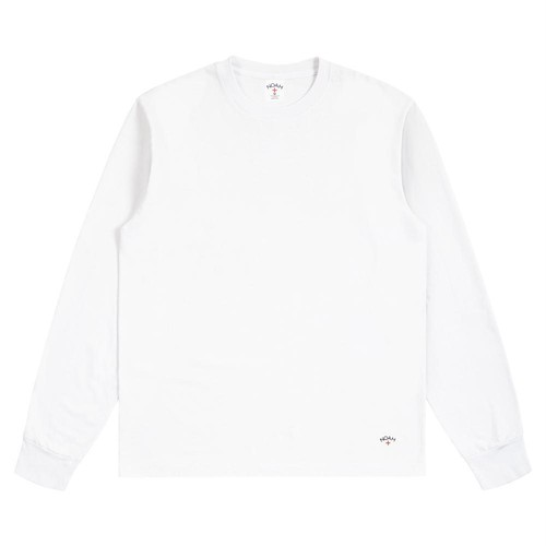 Recycled Cotton Long Sleeve Tee(White)