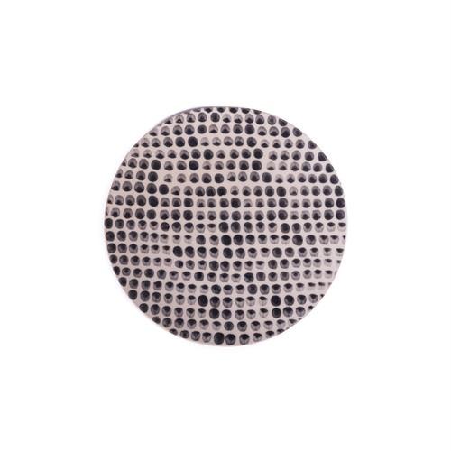 Dots black ドット 黒 正円プレート スモール