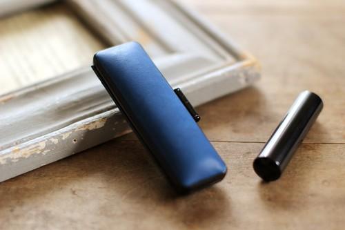 藍染革 15mm径 印鑑ケース