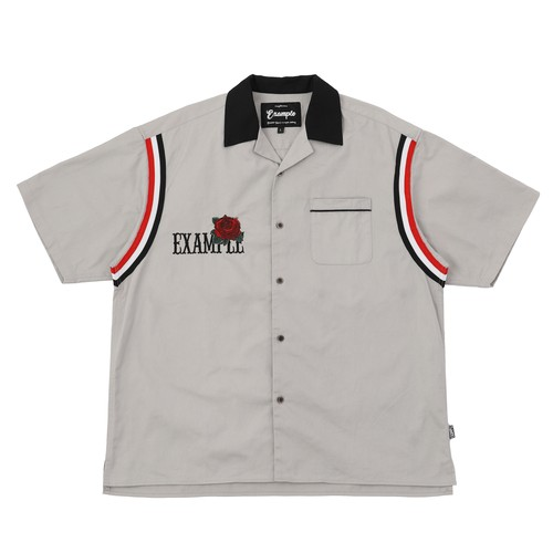 EXAMPLE ROSE BOWLING S/S SHIRT / GRAY