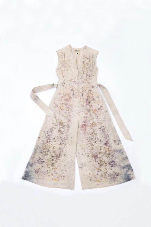 花びら染 ethnic pants dress purple2