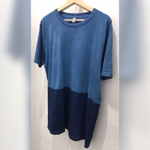 藍染メンズTシャツ L /bi-color ・solosolo