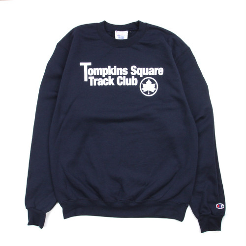 Quarter snacks TRUCK CLUB CREW NECK SWEATSHIRT NAVY