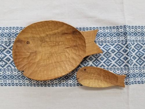 【木工雑貨】魚のお皿 【WOOD STUDIO KUZE'S】