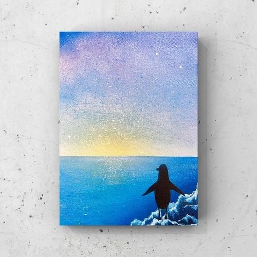 「夏の終わり」 キャンバスパネル風景画