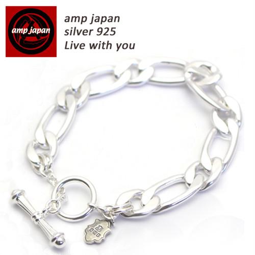AMP JAPAN/アンプジャパン  Tバー留めフィガロチェーンブレスレット 『 Figaro 』HYJK-407