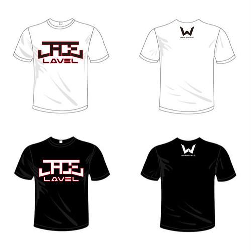 J.ACE LAVELオリジナルロゴTシャツ(白/黒)5.6oz
