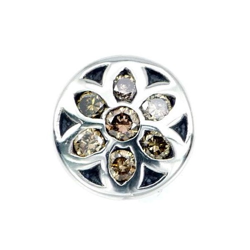 ロゼット #2 ミニ イヤリング 8ミリ w/ ブラウン ダイヤモンド:Good Art HLYWD グッド アート ハリウッド