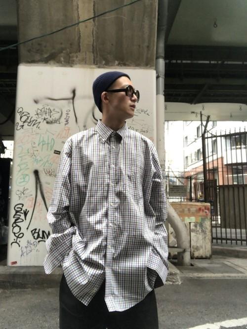 【USED】ボタンダウンチェックシャツ