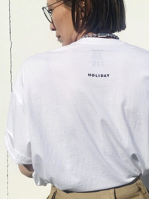 【HOLIDAY】SUPER FINE S/S PACK T-SHIRT
