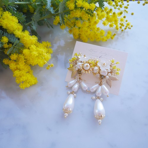 Mimosa pearl bouquet
