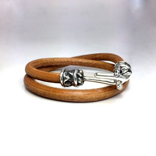 LEATHER BRACELET PIPE HOOK / パイプフックレザーブレスレット