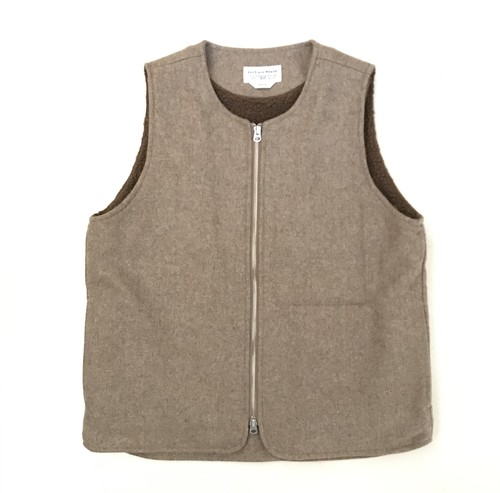 """ENDS and MEANS """"Wool Boa Vest"""""""