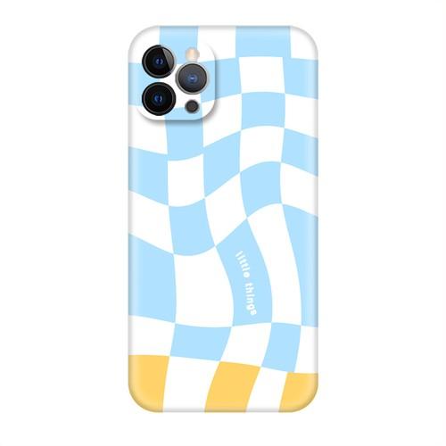 SkyBlueメルティチェスチェックレトロポップ iPhoneケース  30