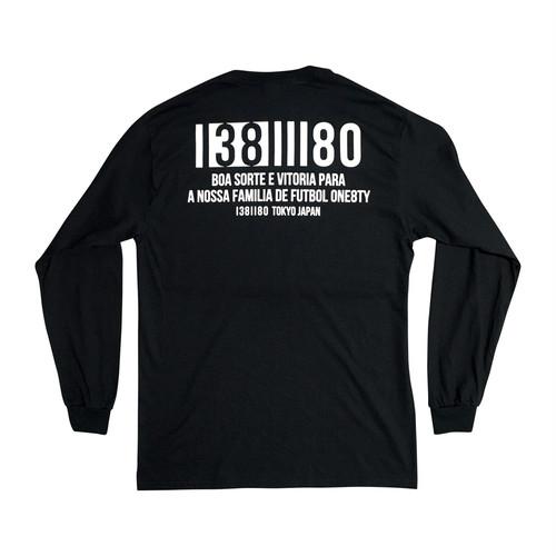 NUMBER ロングTシャツ(ブラック)