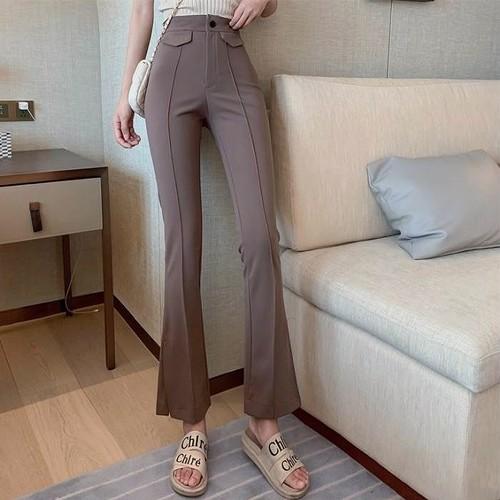 high waist relax pants 2color