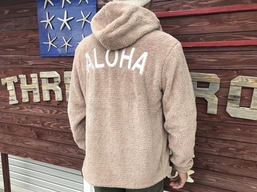 ALOHA ボア ZIPパーカー(beige)