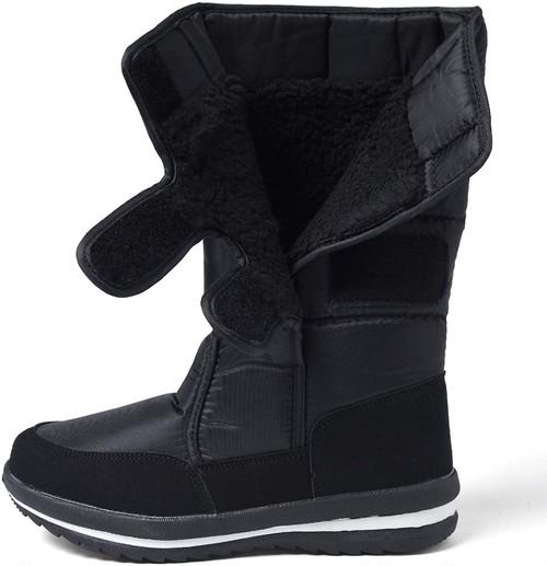 [オスランド] レディースブーツ メンズブーツ 男女兼用 ブーツ スノーブーツ 雪靴 無地 防寒防滑撥水加工 ブラック