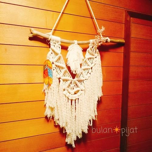 壁掛けマクラメ編みタペストリー インテリア雑貨 壁飾り