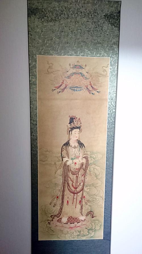 掛け軸 観音 飾り物 珍蔵 絵画 美術品【中国直輸入】