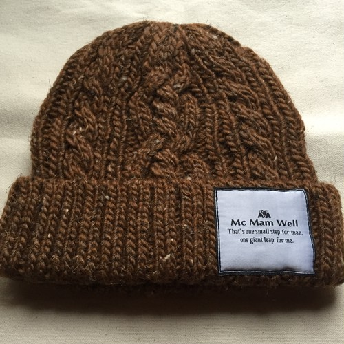 "McMamWell knit cap ""brown"""