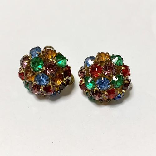 Vintage Multicolor Bijoux Earrings Made In Czechoslovakia