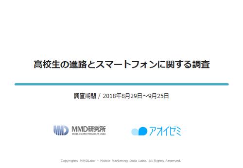 【MMD研究所自主調査】高校生の進路とスマートフォンに関する調査