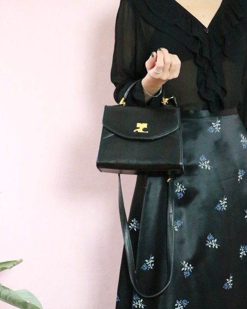 Courreges black 3way bag