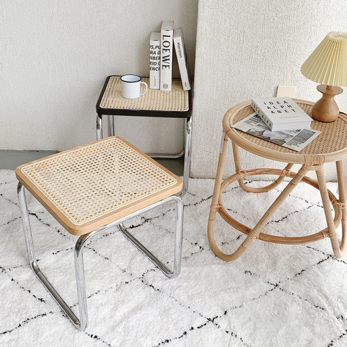 rattan stool 2colors / ラタン スツール 椅子 韓国 北欧